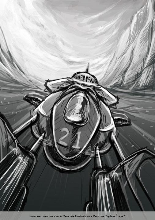 Illustration S.F Étape 1