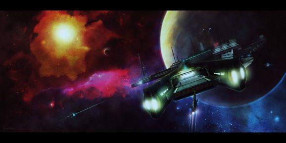 Hawking Space Port_Sf_Illustrateur_Eacone