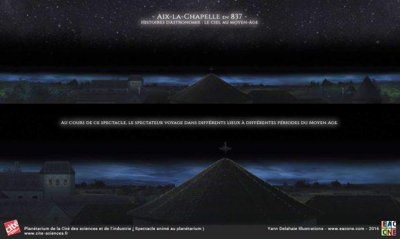 Planetarium Aix la chapelle illustration Yann Delahaie Cite des sciences et de l'industrie