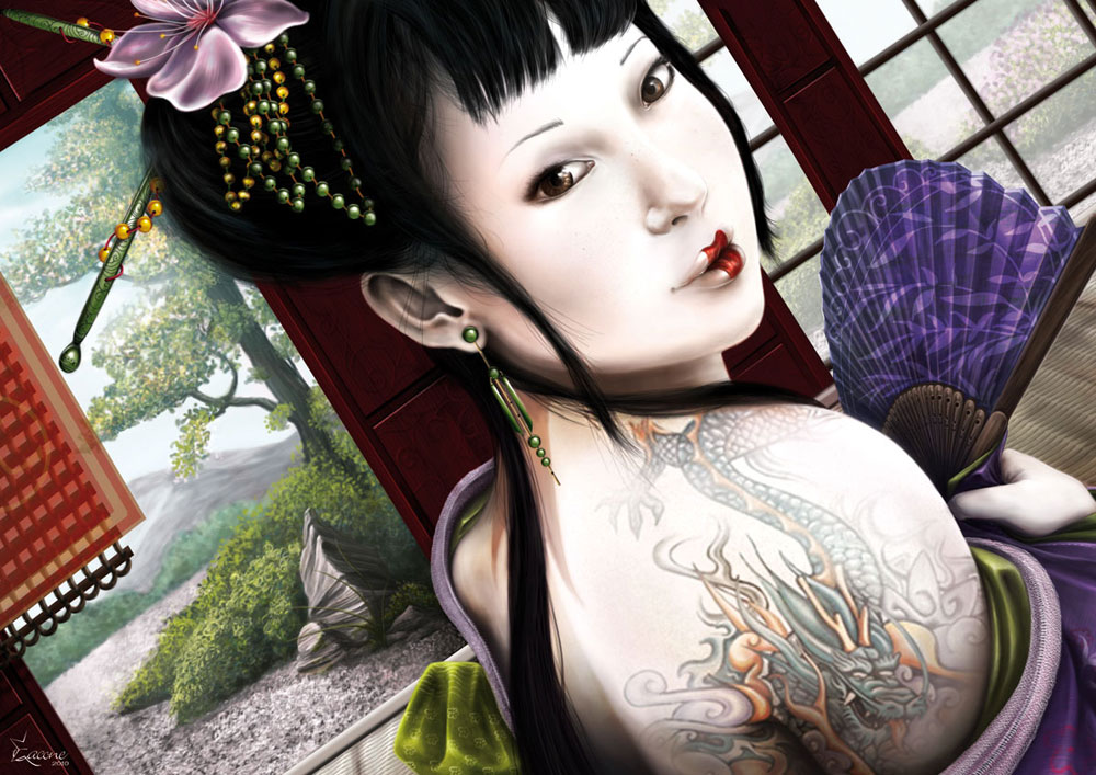 Geisha - Illustration Pin Up - 2010