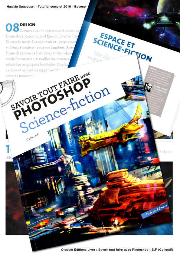 Livre Oracom Photoshop Science-Fiction - H.S Tutoriel 2010