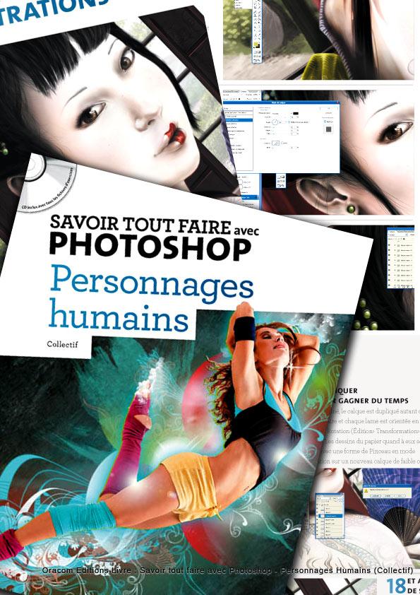 Livre Oracom Photoshop Personnages Humains 2010