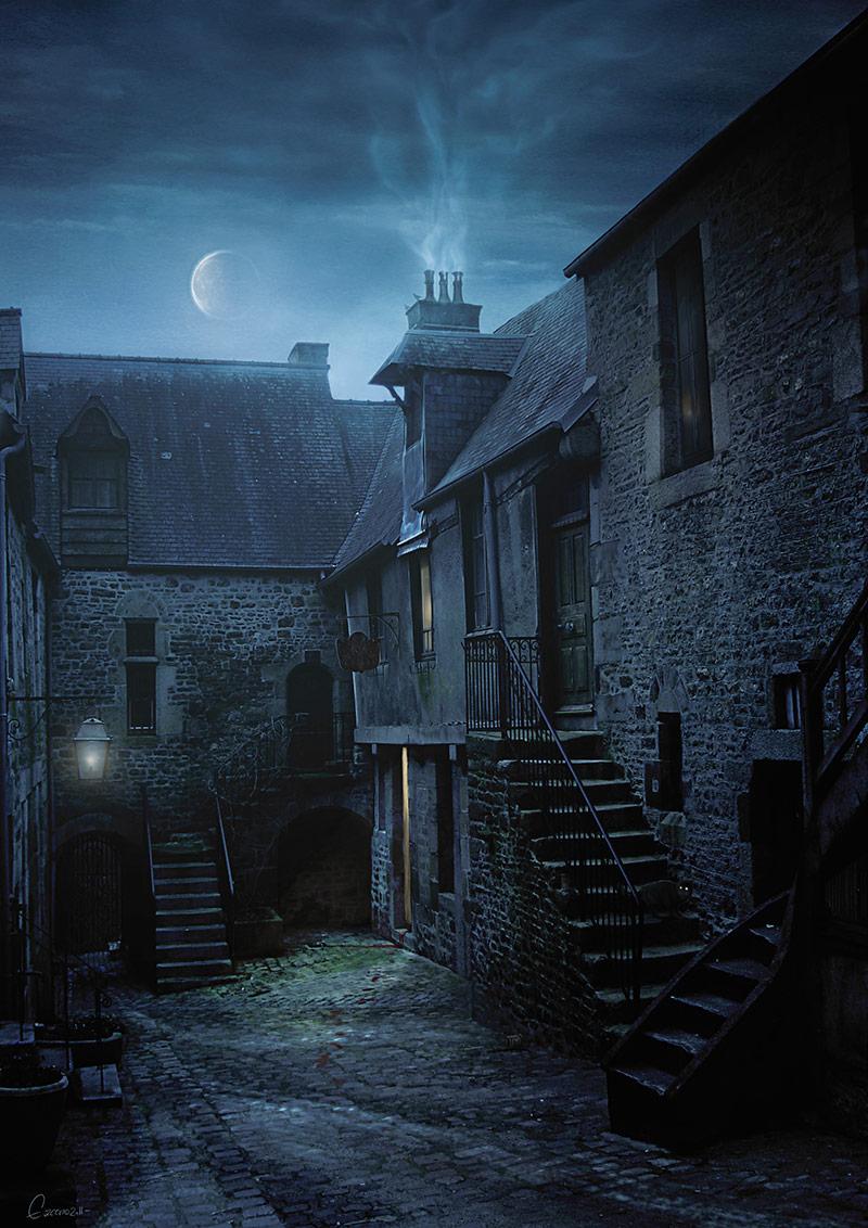 La rue de l'enfer - Yann Delahaie Illustration Dark-Fantasy