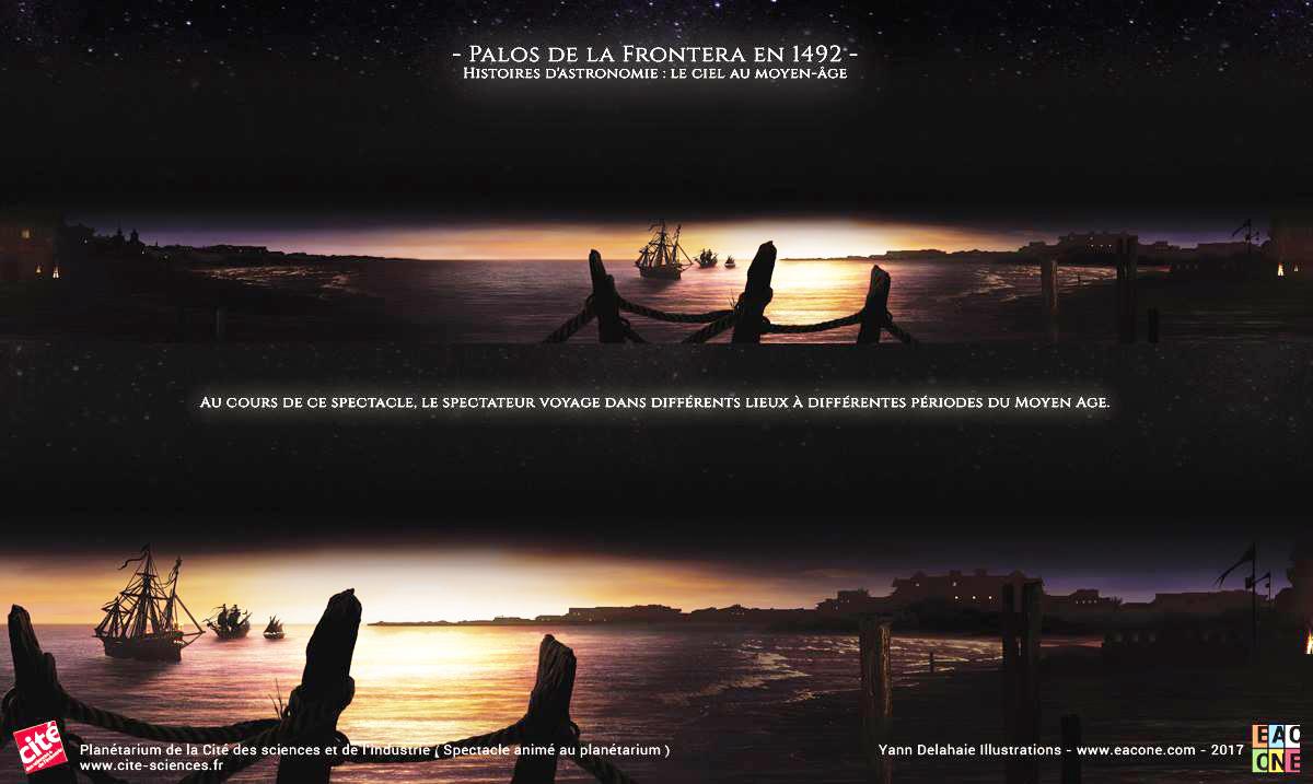 Illustration pour Planétarium - Palos De La Frontera 1492