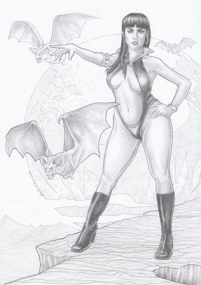 Vampirella Fan Art - Crayon à papier