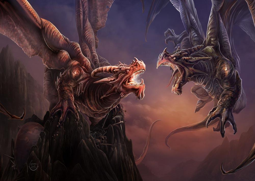 combat_de_dragons_yann_delahaie_eacone_illustrateur