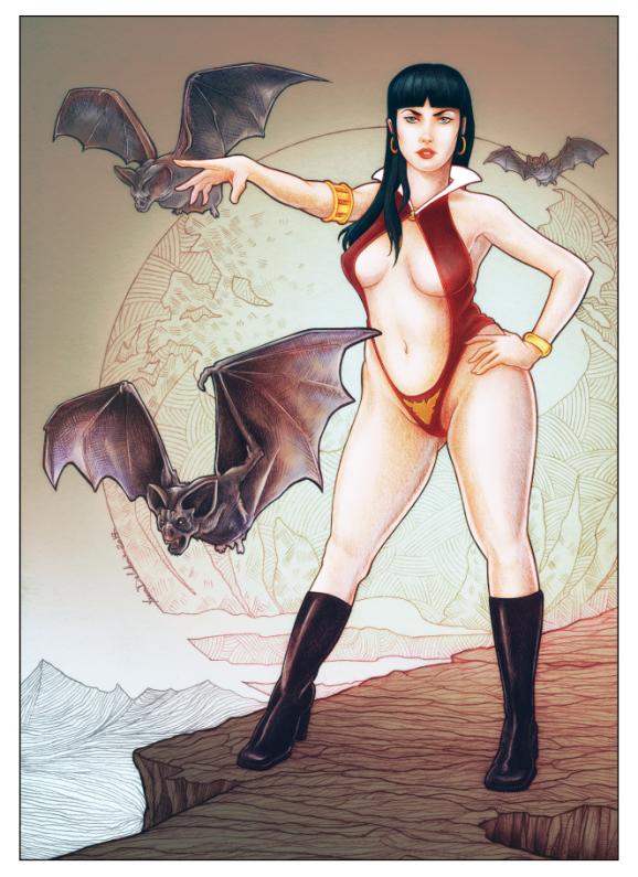 Vampirella fanart eacone illustrateur Yann Delahaie