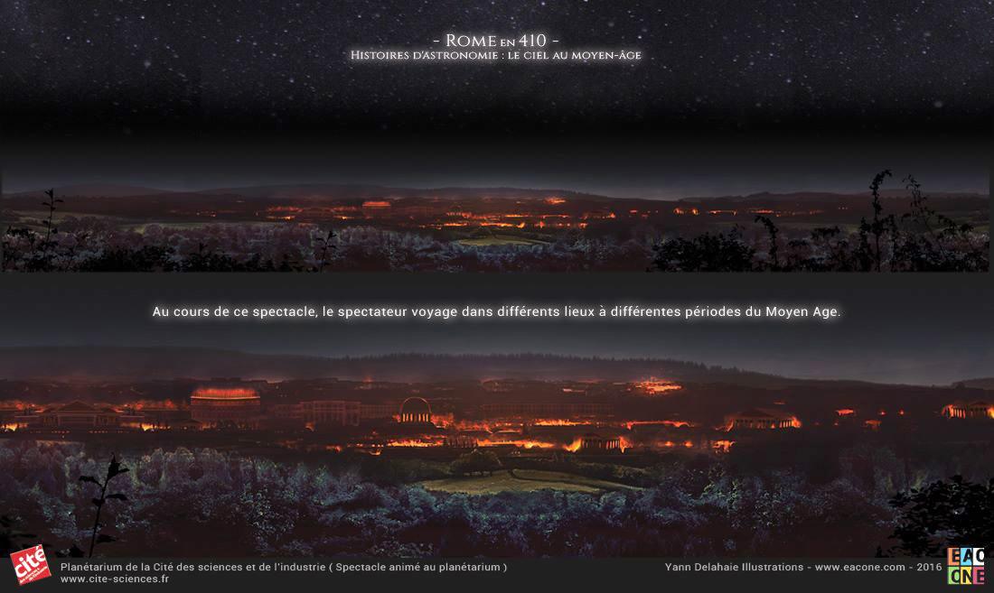 Illustration Rom en 410 Planetarium Cite des sciences et de l'industrie